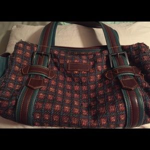 Vintage Longchamp wool satchel bag.